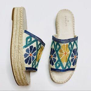 Caslon Cammy Embroidered Platform Slide Sandal